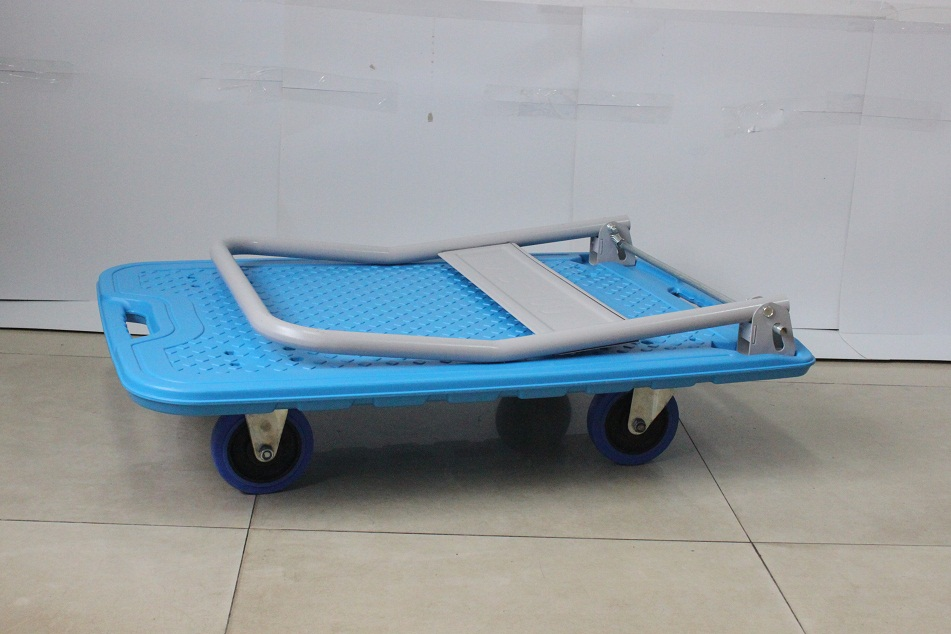 Industrial Warehouse Platform Foldable Hand Trolly